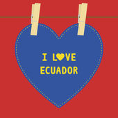 I lOVE ECUADOR5 — Stock Vector