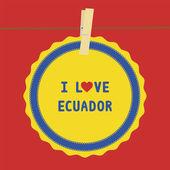 Ecuador4 seviyorum — Stok Vektör