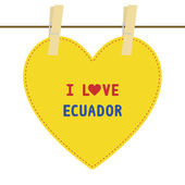 I lOVE ECUADOR6 — Stock Vector