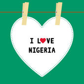 I lOVE NIGERIA5 — Stock Vector