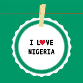 I lOVE NIGERIA4 — Stock Vector