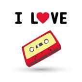 I love tape1 — Stock Vector