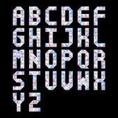 Pastel triangle pattern alphabet — 图库矢量图片