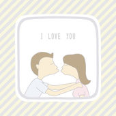 Couple in love1 — Stock Vector