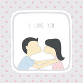 Couple in love2 — Stock Vector