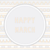 Felice marzo background1 — Vettoriale Stock