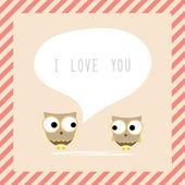 Bird couple card2 — Wektor stockowy