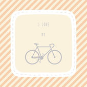 I love bicycle9 — Vector de stock