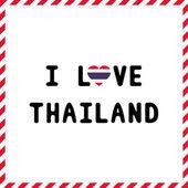 I love Thailand21 — Vector de stock