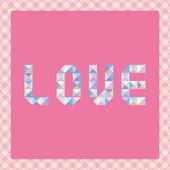 Pastel love letters2 — Vector de stock