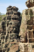 Faces of Bayon temple — Stock Photo