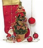 Santa Claus with Christmas gift — Stock Photo