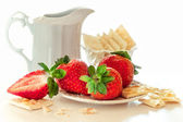 Strawberry with cookies and cream — Stock Photo
