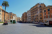 The street near the Spanish steps — Stock Photo