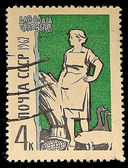 Postage stamp of USSR 1962 — Stock Photo