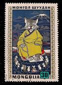 Post stamp.Mongolia. — Stock Photo