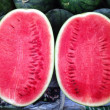 Watermelon in market — Stock Photo