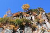 Autumnal rocks — Stock Photo