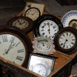 Group of old clocks — 图库照片