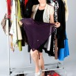 Woman and clothes — Foto de Stock