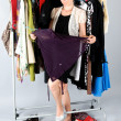 Woman and clothes — Stockfoto