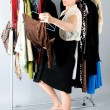 Woman and clothes — Stock Photo