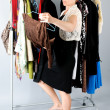 Woman and clothes - Stock Photo