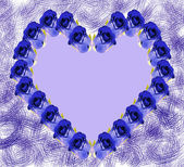 Blue Heart of Roses — Stock Photo