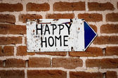 Pointer to a happy home — Stock Photo