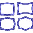Collection of blue frames - Stock Vector