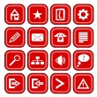 Stock Vector: Red icons