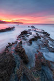 Crystal Cove Red Sunrise — Stock Photo