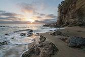 Tramonto spiaggia victoria — Foto Stock