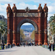 View of Barcelona, Spain. Arc de Triomf — Stock Photo