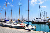 Yacht on the berth in Palma de Majorca — Stock Photo
