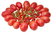 Tomatoes isolated on white background — Stock Photo