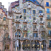 The facade of the house Casa Battlo (also could the house of bo — Stock Photo