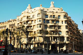 Famous Barcelona landmark - Antonio Gaudi's work Casa Milo (or L — Stock Photo
