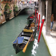 Famous Venetian gondola in Italy. — Stock Photo