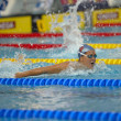 CaterinGiacchetti (Italy) at EuropeSwimming Championships — Stock Photo #14057750
