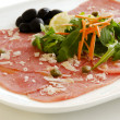 Stock Photo: White meat Carpaccio with ParmesCheese