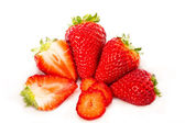 Strawberries isolated in white background — Stock Photo