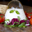 Italian fresh ricotta — Stock Photo