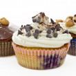 Stock Photo: Chocolate muffins with amaretti