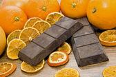 Orange chocolate — Stock Photo