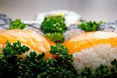 Japan sushi closeup — Stock Photo