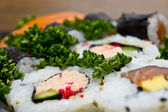 Sushi closeup background — Stock Photo