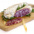 Slices of salame from Italy - Foto Stock