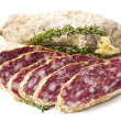 Stock Photo: Slices of salame from Italy