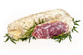 Slices of salame from Italy — Stock Photo